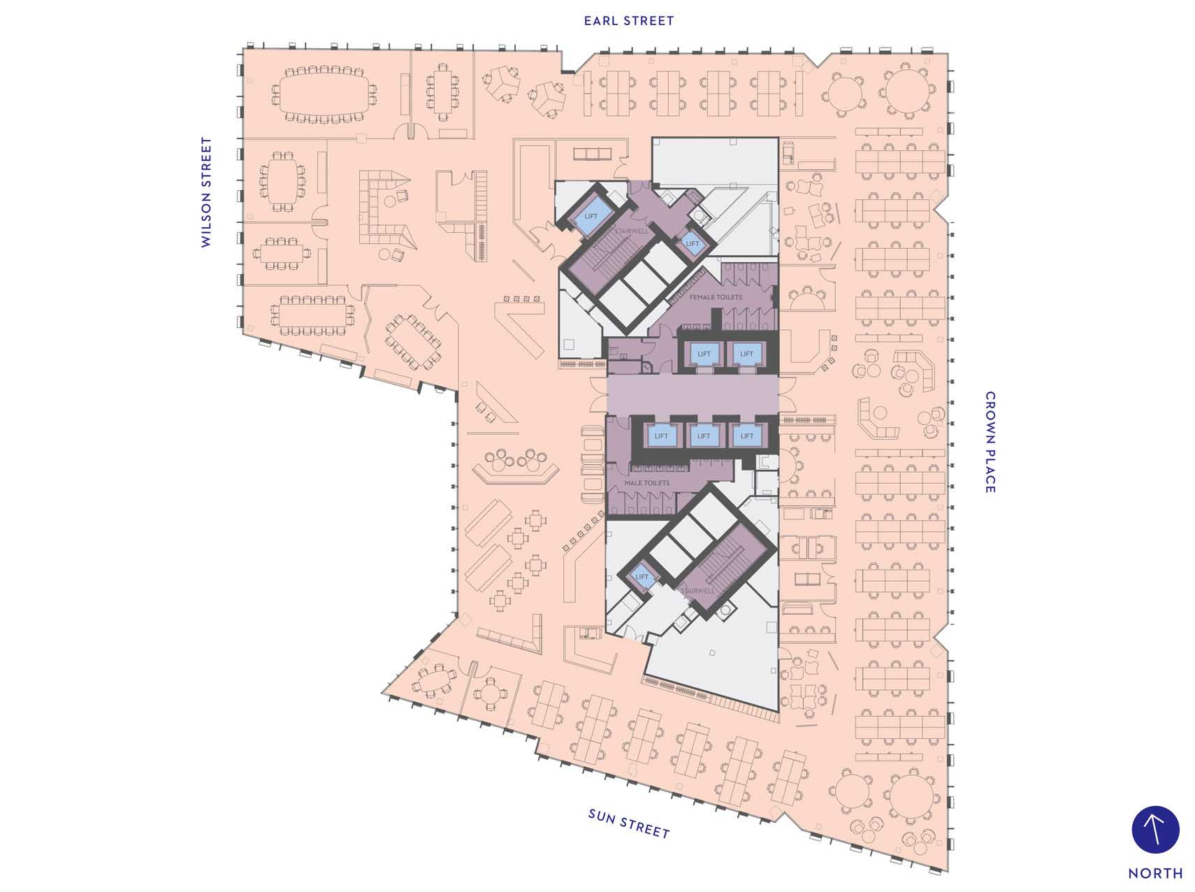 One Crown Place - Commercial LEGAL SPACE PLAN