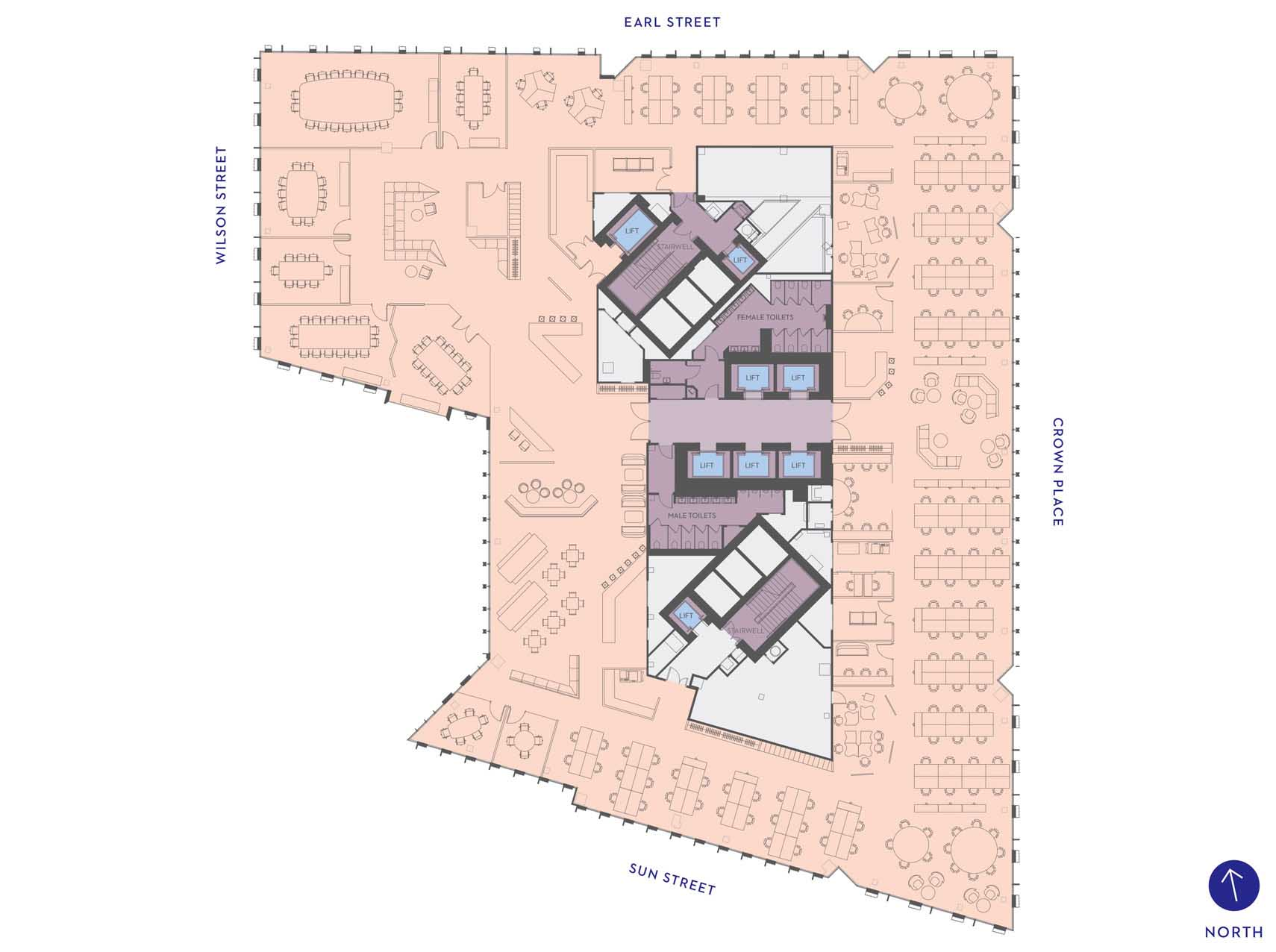 One Crown Place - Commercial MEDIA SPACE PLAN